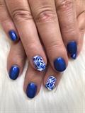 Blue China plate nails