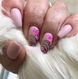 Pink confetti dots