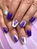 Purple and polkadots