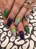 Green glittery slime