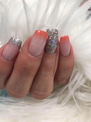 Orange Ombré And Glitter #2
