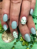 Mint green Saint Patrick's day nails