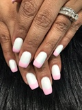 Reverse pink and white French