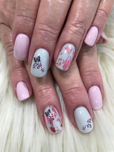 Soft Pink And Butterflies