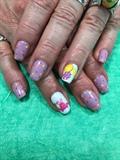 Polkadot Easter nails