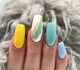 Neon Yellow Marbling #2