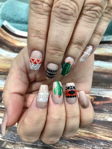 BoHo Cactus Nails #2