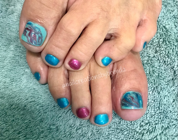 Marbling Gel Toes