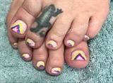 Rainbow Wave Toes