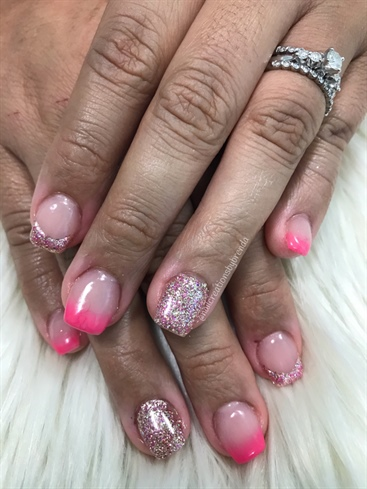 Glitter And Ombré French