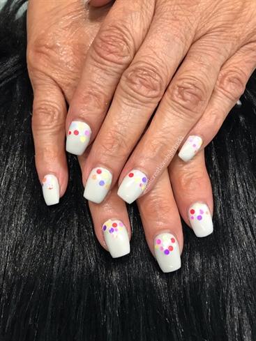 Colorful confetti dots