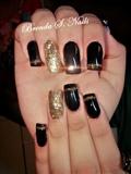 #black #glitter #golden