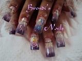 Difuminado violetas