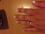 First nail art