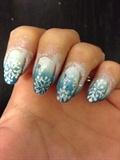 Snowflakes Blue Gradient