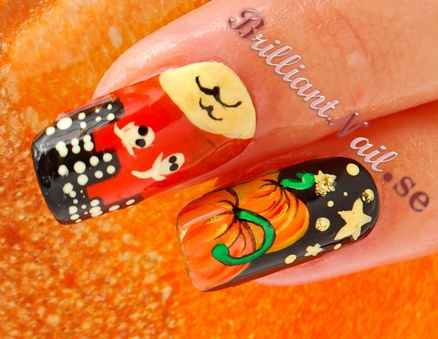 Halloween Nails: The Haunted City