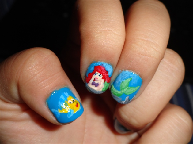 Ariel And Flounder The Little