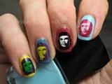 Che Guevara nail art