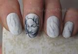 Michelangelo's Pieta inspired nails