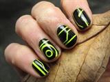 Tron nail art