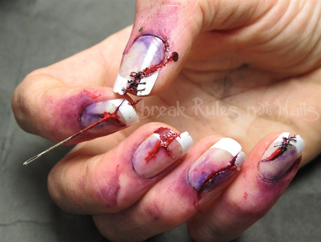 Zombie nail art - Zombie Nail Art - Nail Art Gallery