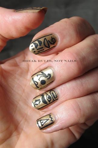 Ancient Egyptian Nail Art Nail Art Gallery