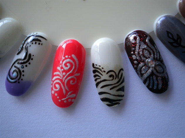 tribal nails!!