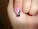 Pink manicure with Cracle nail polish