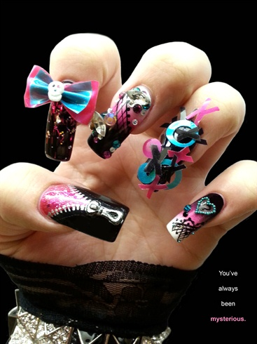 Next Top Nail Artist Mysterious Nail Art Gallery Step By Step