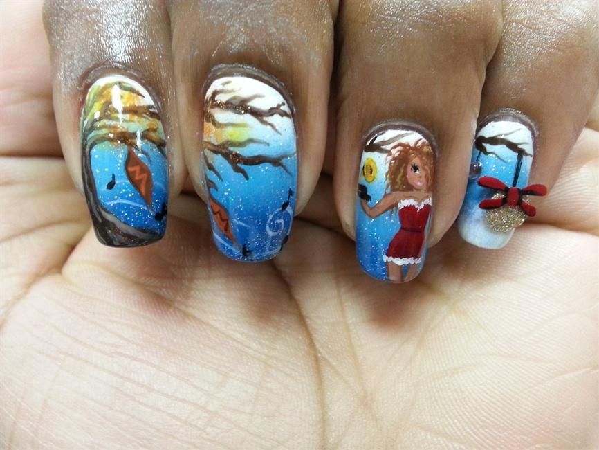 NTNA Week 10 OPI Mariah Carey Polish - Nail Art Gallery Step-by-Step ...