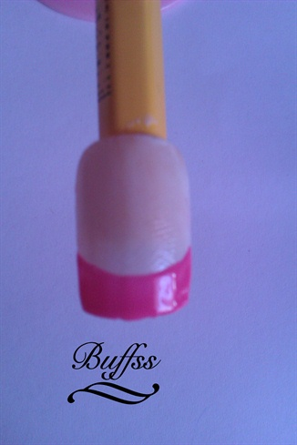 Use one of the pink polishes to make the tips pink.