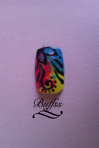 Apply the top coat and your nail art design is ready! :)