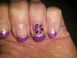 Purple french leopard