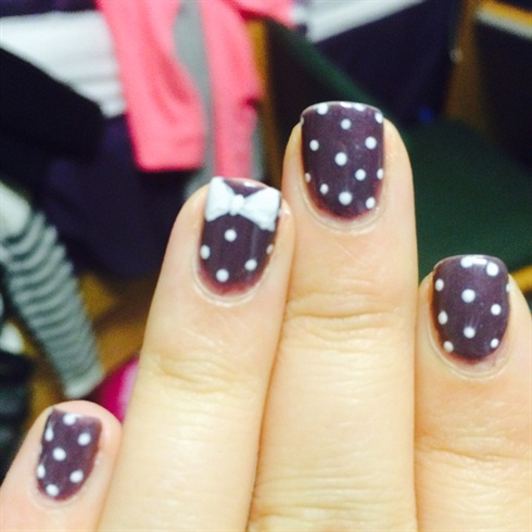 Purple Polka Dot Nails