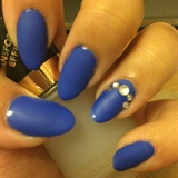 Matte Blue Nails