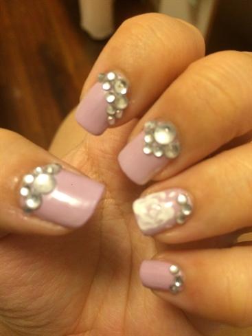 Purple Gem Nails
