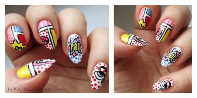 Comic Nails Nail Art Gallery