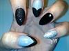 Diamond Night Sky Acrylic Nails