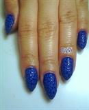 """Leopard Blues"" Acrylic Nails"