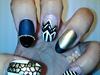 I Love Gold Acrylic Nails