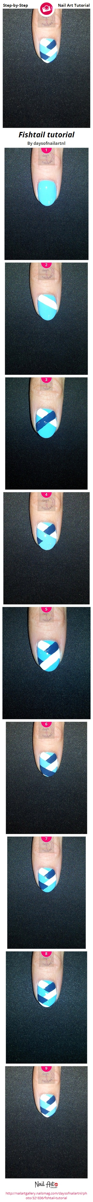 Fishtail tutorial - Nail Art Gallery