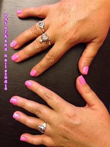 Hot Pink & Polka Dots
