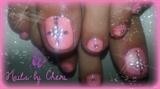 pink glitter gel toes