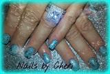 tiffany blue polish silver glitter