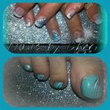 tiffany blue nails & toes
