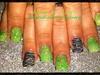 Zebra and lime green glitter acrylic