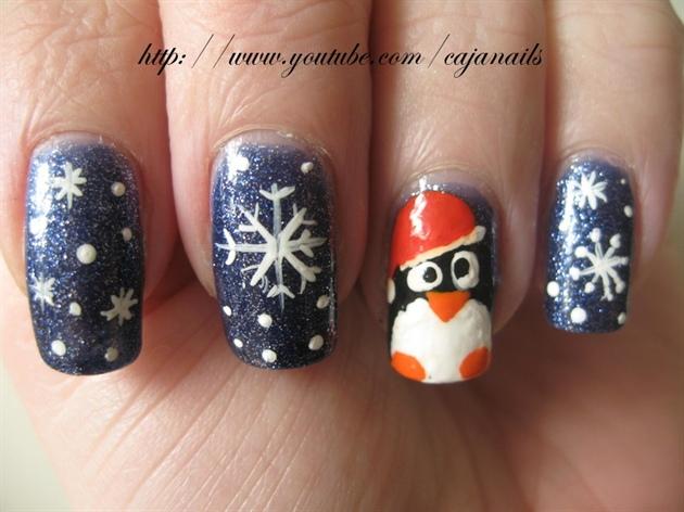 Nailart Let It Snow Penguin Nail Art Gallery