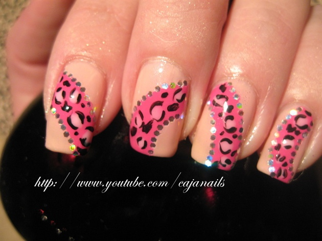 Nailart: Funky princess leopard