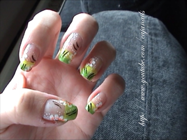 Nailart: Fresh floral design