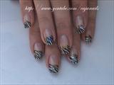 Nailart: Funky zebra